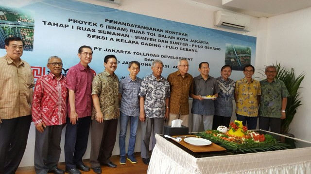 Penandatanganan Kontrak Proyek 6 Ruas jalan Tol (JTD & KSO JAYA KONSTRUKSI-ADHI)